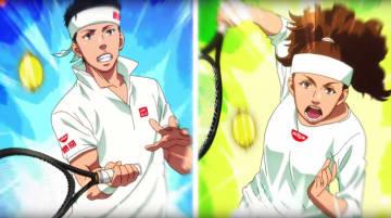 日清食品の広告動画で肌を白く表現された大坂なおみ選手(右)。左は錦織圭選手(日清食品グループ公式チャンネルのユーチューブより)