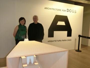 展示中の「犬のための建築」