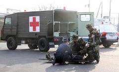テロ想定し県警と陸自が訓練