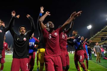 ベスト8へ駒を進めたカタール代表 photo/Getty Images