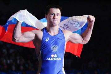 オリンピック3連覇を目指すロマン・ブラソフ(ロシア)=2015年世界選手権、撮影・矢吹建夫