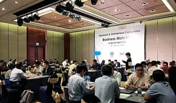 信金中央金庫は18日、取引先とベトナム企業との商談会をホーチミン市で開催した(同金庫提供)