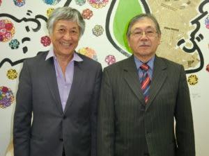 (左から)頃末理事長、谷口実行委員長
