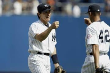 現役時代ともにヤンキースでプレーした松井秀喜氏(左)とマリアーノ・リベラ氏【写真:Getty Images】