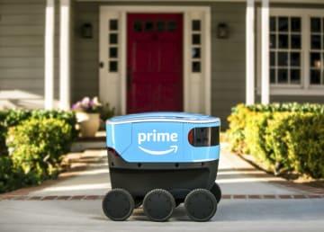米アマゾン・コムの配達ロボット「アマゾン・スカウト」(同社提供・共同)