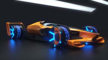 """【ギャラリー:2050年F1カー""""MCLエクストリーム""""】マクラーレンが考える未来のF1の姿"""