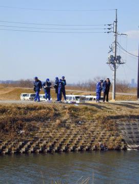 茨城大の女子学生が他殺体で発見された現場=2004年1月31日午後1時ごろ、美浦村舟子