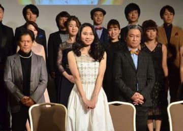 屋比久知奈さん「全身全霊で演じる」 レ・ミゼラブル製作発表会見 知念里奈さん、大嶺巧さん、伊礼彼方さんも出演