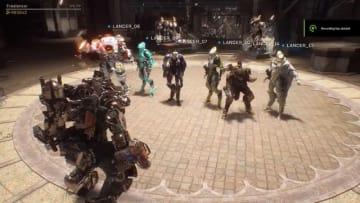 『Anthem』は最大16人が集合できるマルチプレイヤーハブを搭載、映像ではエモート合戦がチラリ