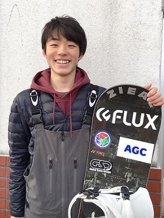 土井、AGCとスポンサー契約 米沢中央高のプロスノーボーダー