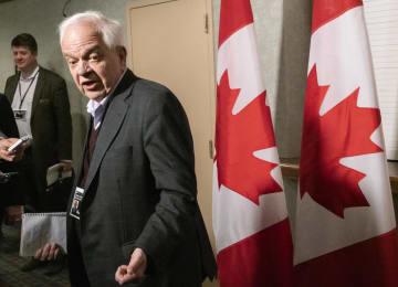 カナダのジョン・マカラム駐中国大使(AP=共同)