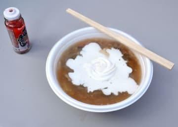 豆乳クリームをかけたボル豚汁