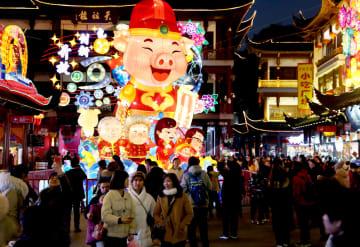 2019豫園ランタンフェスティバル開幕 上海