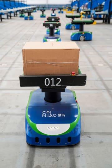 菜鳥のIoTロボット仕分けセンター、南京で稼働