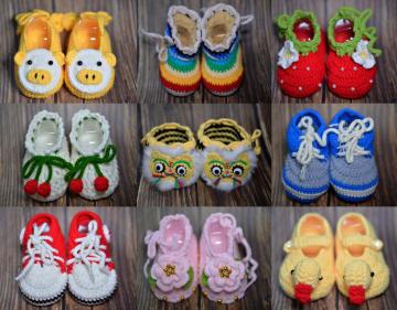 毛編みベビー靴で収入アップ 河北省沙河市