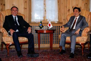 初会談した日伯両首脳(Foto: Alan Santos/PR)