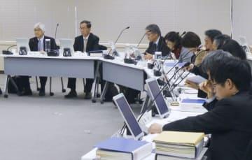 東京電力福島第1原発事故後の放射線基準を検証する国の放射線審議会=25日午後、東京都港区