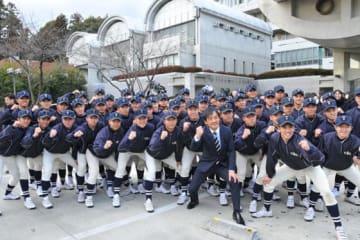 選抜出場が決定した桐蔭学園の選手たち【写真:篠崎有理枝】