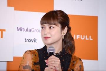 「LIFULL新会社設立発表会」に出席した平愛梨さん