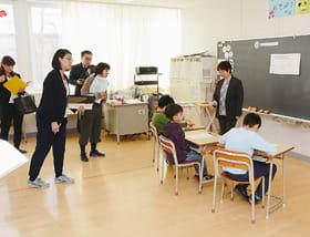 特別支援教育の取り組みを紹介した公開研究会