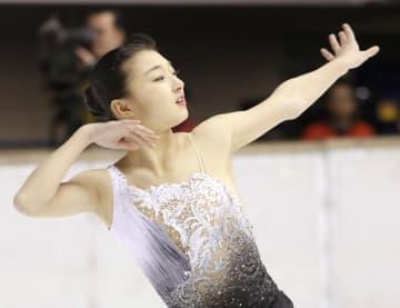 フィギュア女子で初優勝した神戸野田・坂本花織のフリー=名古屋市ガイシプラザ