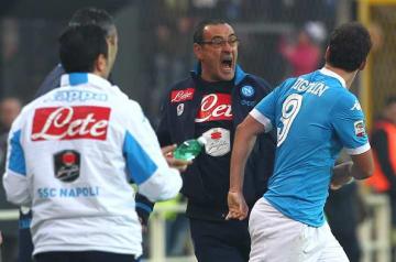 ナポリで共闘したサッリとイグアイン photo/Getty Images