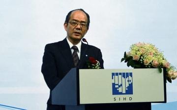 池田泉州銀行の鵜川頭取は、取引先のベトナム進出を支えていくと強調した=25日、ホーチミン市