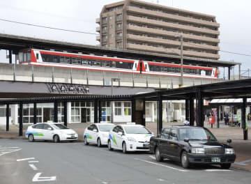 行方不明になった女子大生がタクシーに乗車した鹿島神宮駅=26日