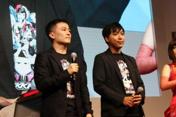 解説を務めた池田幸平氏(左)と実況のゲンヤさん(右)。