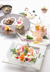 本料理北乃路で提供する和食版の「白い恋人ランチ」=石屋製菓提供