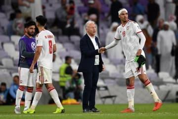UAE代表を指揮するザッケローニ photo/Getty Images