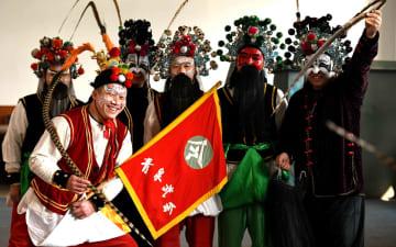 伝統の隈取り描き新年迎える 河北省石家荘市