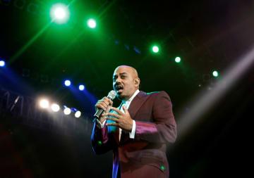 米R&B歌手のジェームス・イングラムさん=2008年3月、ジャカルタ(ロイター=共同)