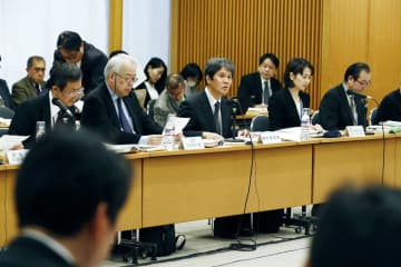 総務省の統計委員会が開いた今年2回目の会合。中央はあいさつする西村清彦委員長=30日午後、東京都千代田区