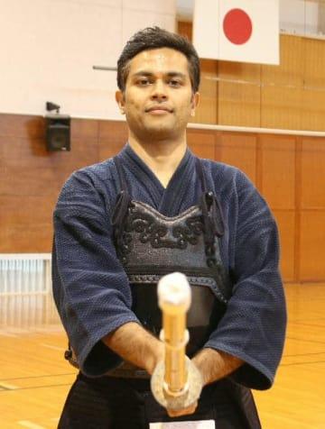 剣道の昇段試験で5段に合格したサルマ・シッダールタさん=別府市