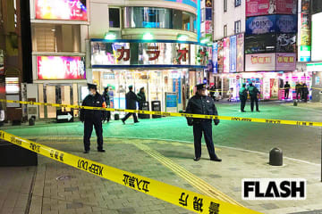 歌舞伎町の発砲現場