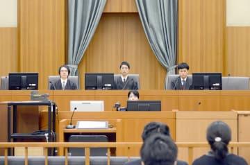 殺人罪などに問われた室坂一美被告の裁判員裁判の初公判が開かれた福井地裁の法廷=1月30日(代表撮影)