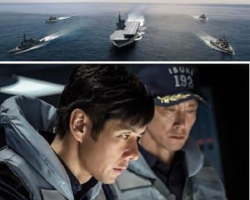 映画「空母いぶき」の公開画像、西島秀俊さん(左)と佐々木蔵之介さん(右)=キノフィルムズ提供