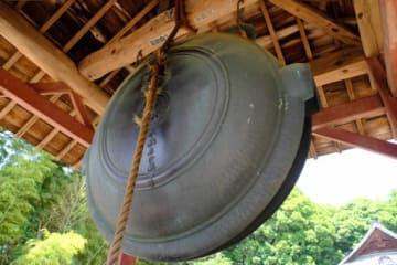 県重要文化財への指定が答申された石山観音の「大鰐口」(県教委提供)
