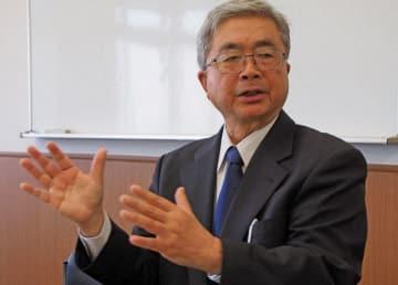 校長として児童の命を守った経験を振り返る菅野さん=横須賀市総合福祉会館