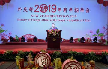 中国外交部 新年レセプション開催