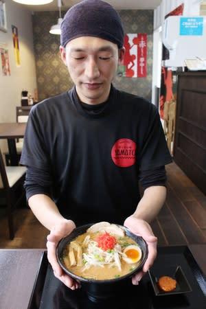 蒲公英拉麺YAMATOが提供する「雪室酒粕みそラーメン」=上越市大和5