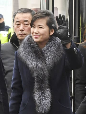 北朝鮮の「三池淵管弦楽団」の玄松月団長=2018年1月、ソウル(韓国取材団・共同)