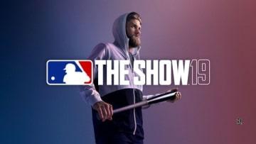ゲーム「MLB The Show 19 (英語版)」のメインビジュアルを飾るブライス・ハーパー選手