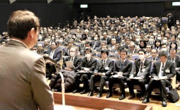 教員不祥事が相次ぎ、綱紀粛正が求められた緊急の管理職会議=2月2日、福井県福井市の県生活学習館