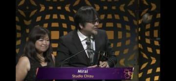 第46回アニー賞で長編インディペンデント作品賞を受賞した細田守監督