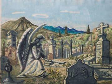 多色摺り版画「異人墓地」(浦上)