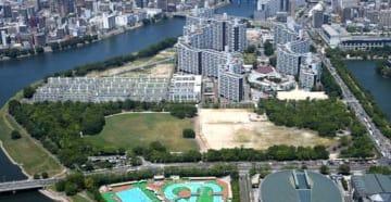 サッカースタジアム建設の最終候補地となる見通しになった広島市中区の中央公園自由・芝生広場