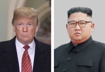 トランプ米大統領(ゲッティ=共同)、北朝鮮の金正恩朝鮮労働党委員長