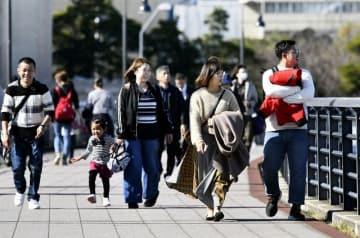 横浜でぽかぽか陽気